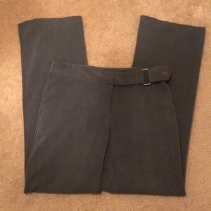 Stretch gray dress pants, 3/4